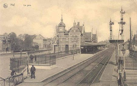 Station van Halle in 1920